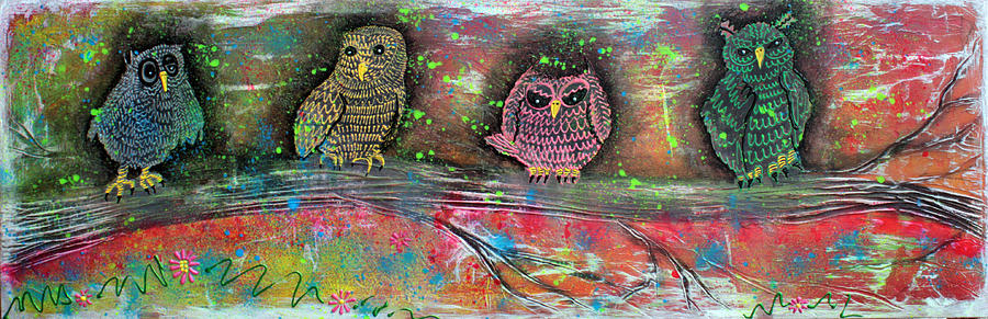 Owl Painting - Owl Totem by Laura Barbosa