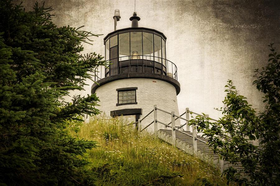 Lighthouse Photograph - Owls Head Lighthouse by Joan Carroll