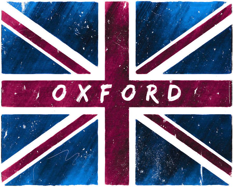 Oxford Digital Art - Oxford Distressed Union Jack Flag by Mark E Tisdale