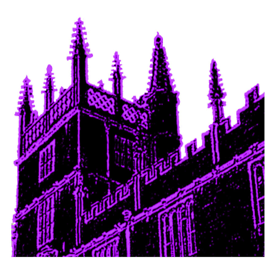 Oxford Digital Art - Oxford England 1986 Purple Spirals Art1 Jgibney The Museum Gifts by The MUSEUM Artist Series jGibney