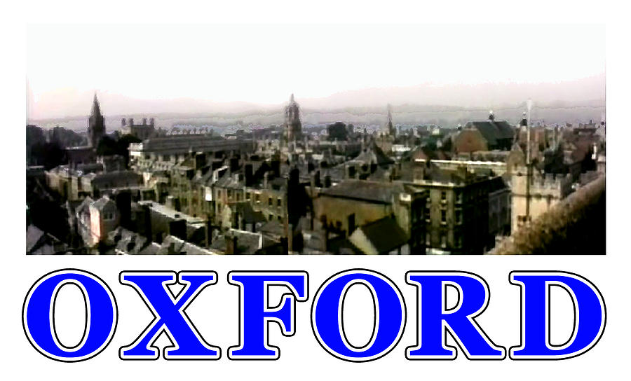 Oxford Digital Art - Oxford Snapshot Panorama Rooftops 2 Jgibney The Museum Zazzle Gifts by The MUSEUM Artist Series jGibney