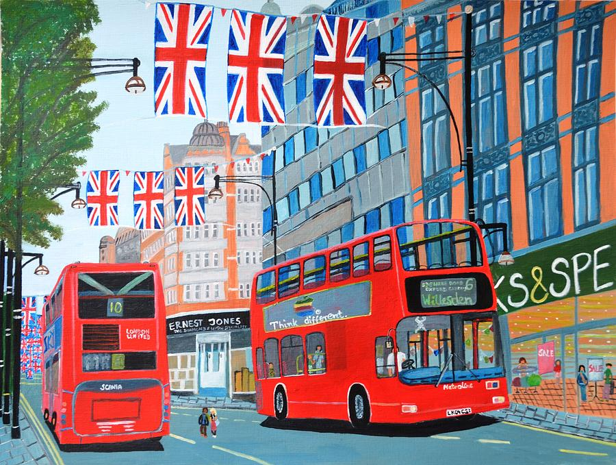 Oxford Street- Queen's Diamond Jubilee  by Magdalena Frohnsdorff