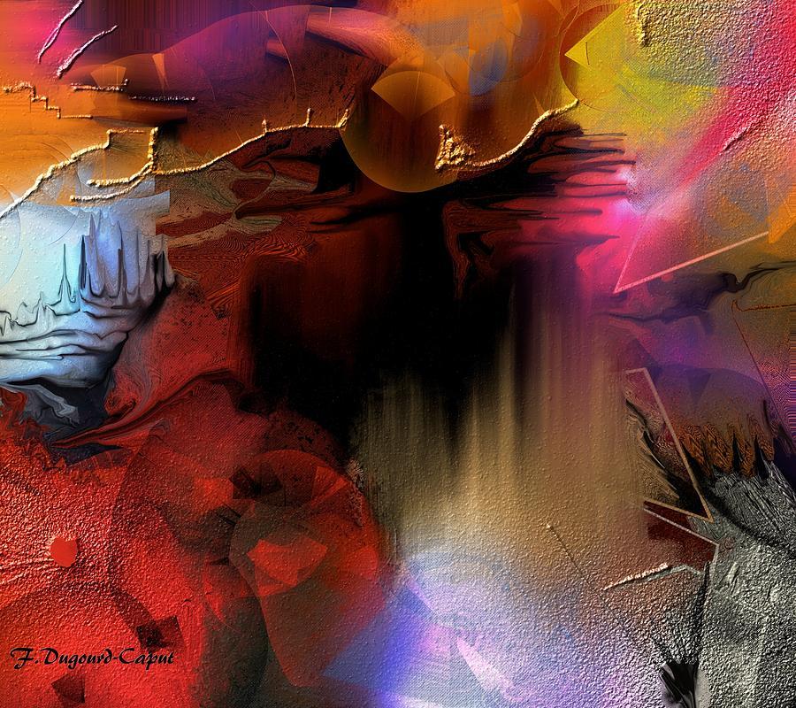 Abstract Digital Art - Oxocelhaya by Francoise Dugourd-Caput