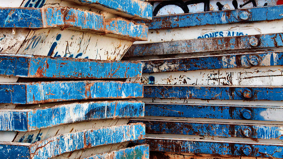 Abstract Photograph - Oxyd Blue After The Storm by Pedro Fernandez