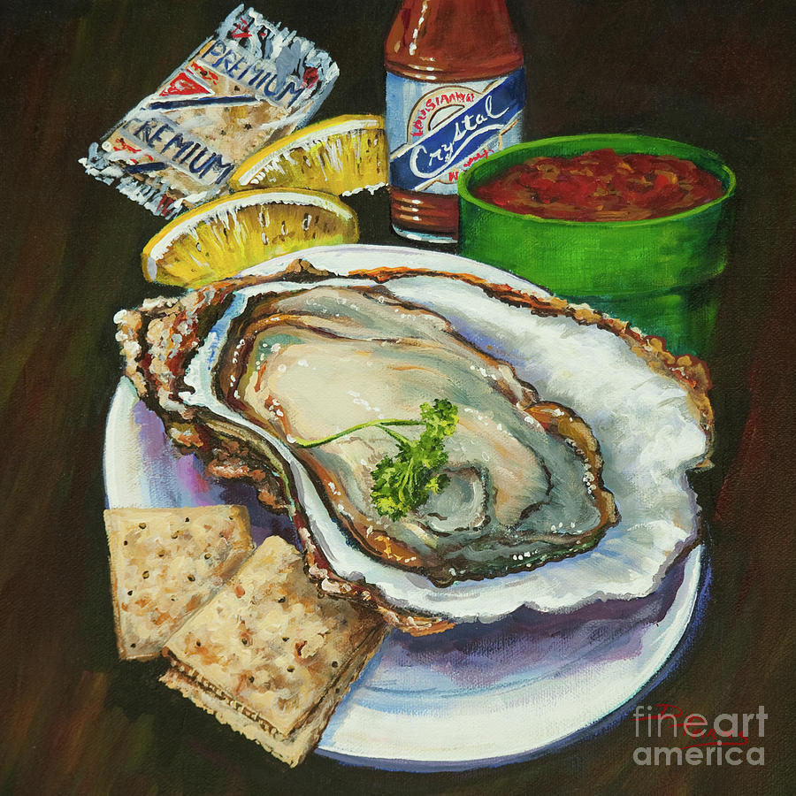 Oyster Painting - Oyster And Crystal by Dianne Parks
