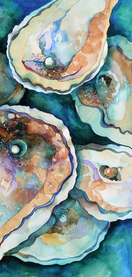 Sea Painting - Oyster by Carol Shamrock