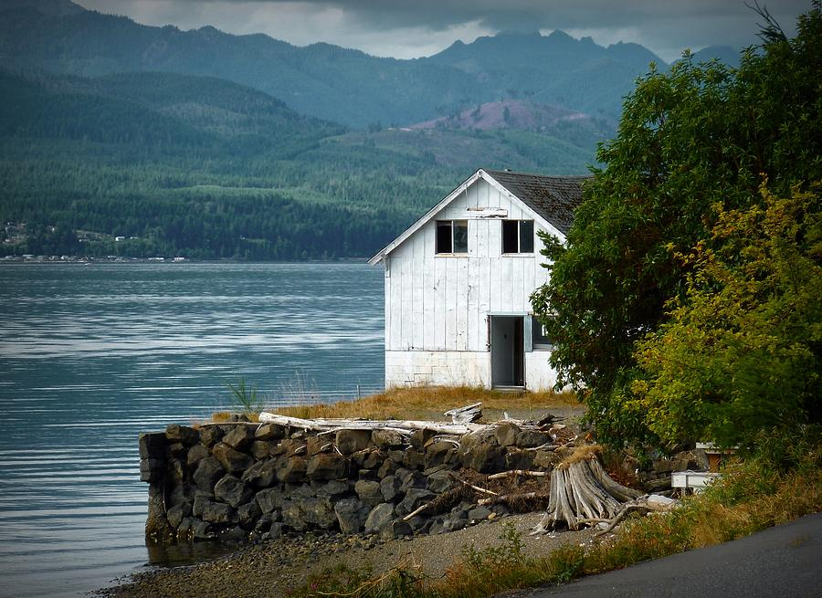 Hood Canal Photograph - Old Oyster Shack by Patricia Strand