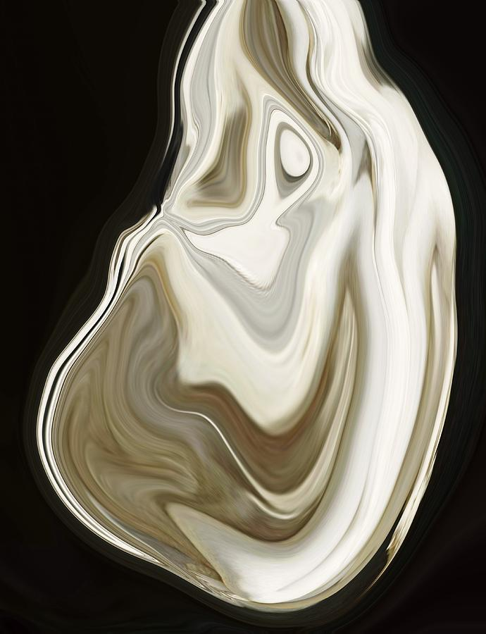 Shell Digital Art - Oyster Shell No 3 by Chad Miller