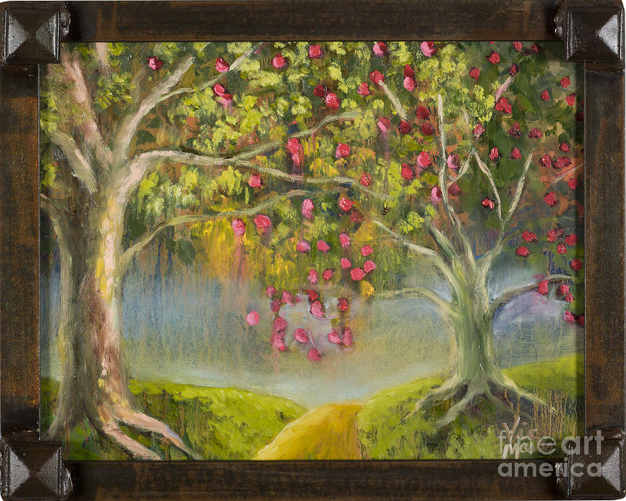 Oz Apple Orchard with Gold Leaf by Vic Mastis by Vic  Mastis