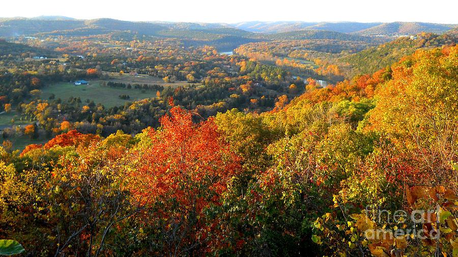 Ozark Photograph - Ozark Autumn White River Valley - Arkansas/missouri Line by Gerald MacLennon