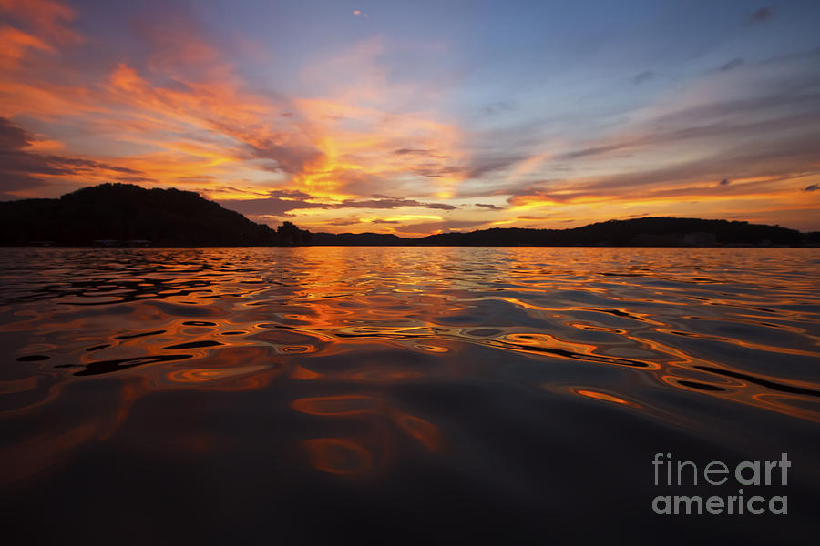Lake Of The Ozarks Photograph - Ozark Sunset by Dennis Hedberg