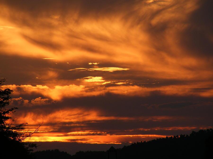 Sunset Photograph - Ozark Sunset by Edward Hamilton