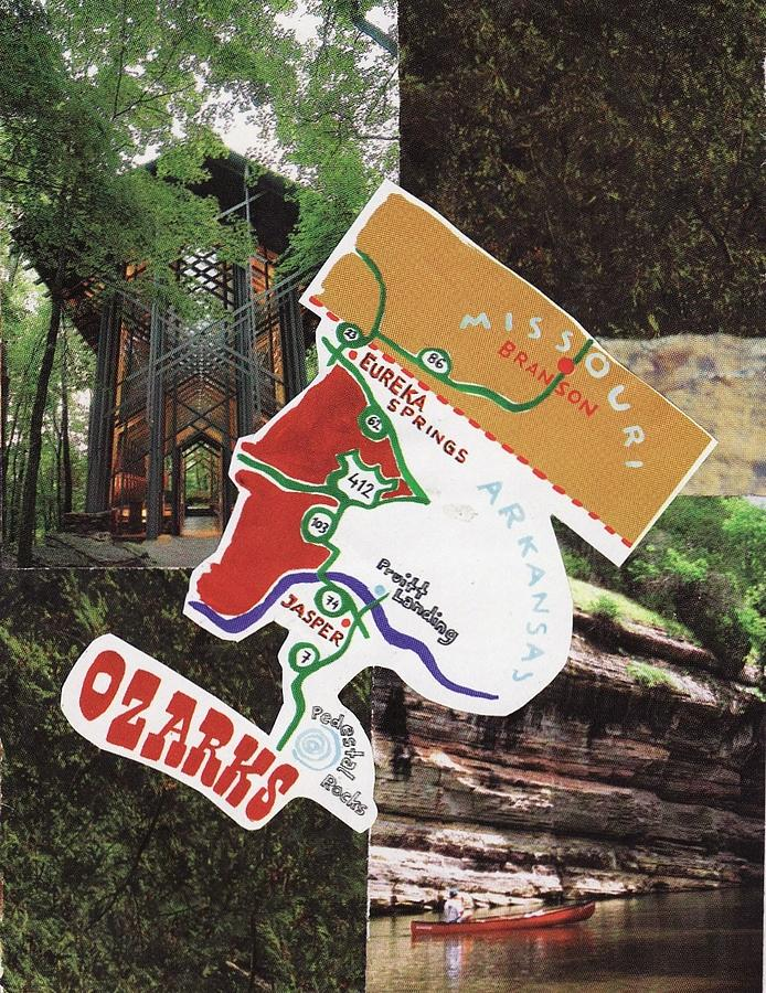 Collage Mixed Media - Ozarks by Matthew Hoffman