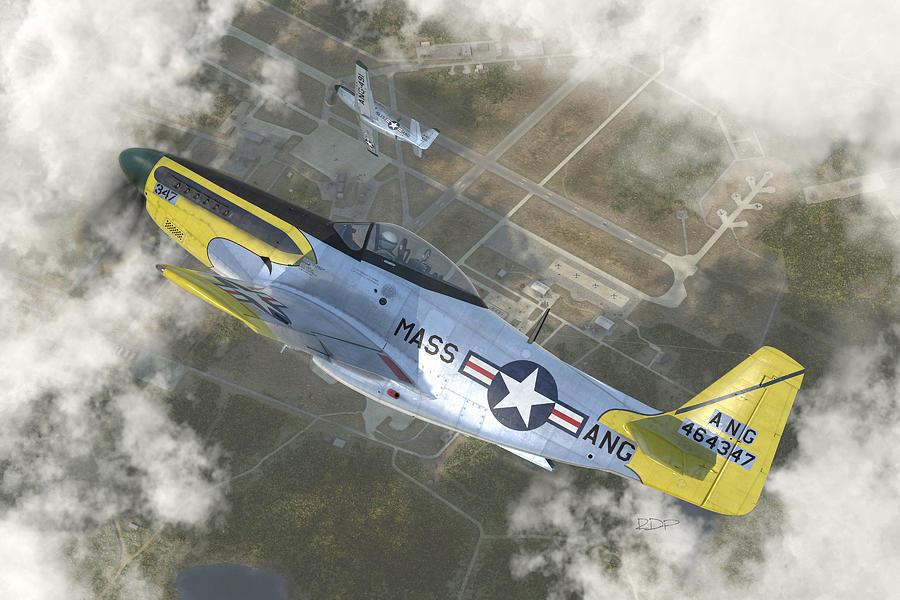 P-51 H Digital Art by Robert Perry