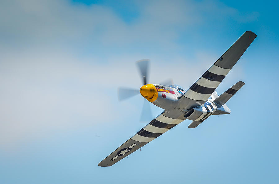 North American P-51 Mustang Photograph - P-51 Mustang Low Pass by Puget  Exposure