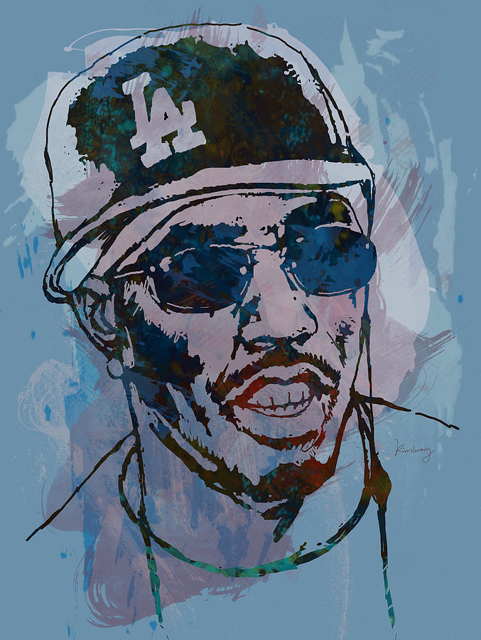 Sean Combs Drawing - P Diddy - Stylised Etching Pop Art Poster by Kim Wang