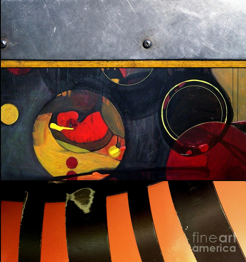 Triptych Painting - p HOT 115 by Marlene Burns