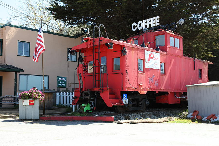 Bayarea Photograph - P Town Cafe Caboose Pacifica California 5d22659 by Wingsdomain Art and Photography