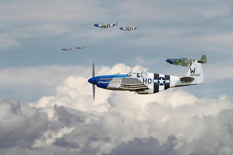 P 51 Mustang Art P51 Mustang - Blue Nos...