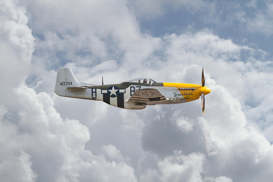 Aircraft Photograph - P51 Mustang Gallery - No5 by Pat Speirs