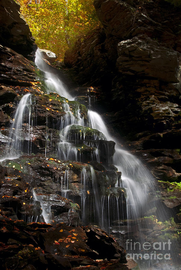 Ricketts Glen Photograph - Pa. Autumn Waterfalls by Paul W Faust -  Impressions of Light