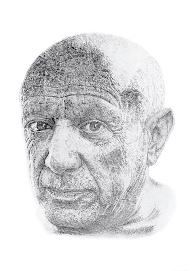 Pablo Picasso Drawing by Chris Greenwood