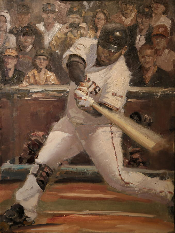 Painting - Pablo Sandoval Home Run by Darren Kerr