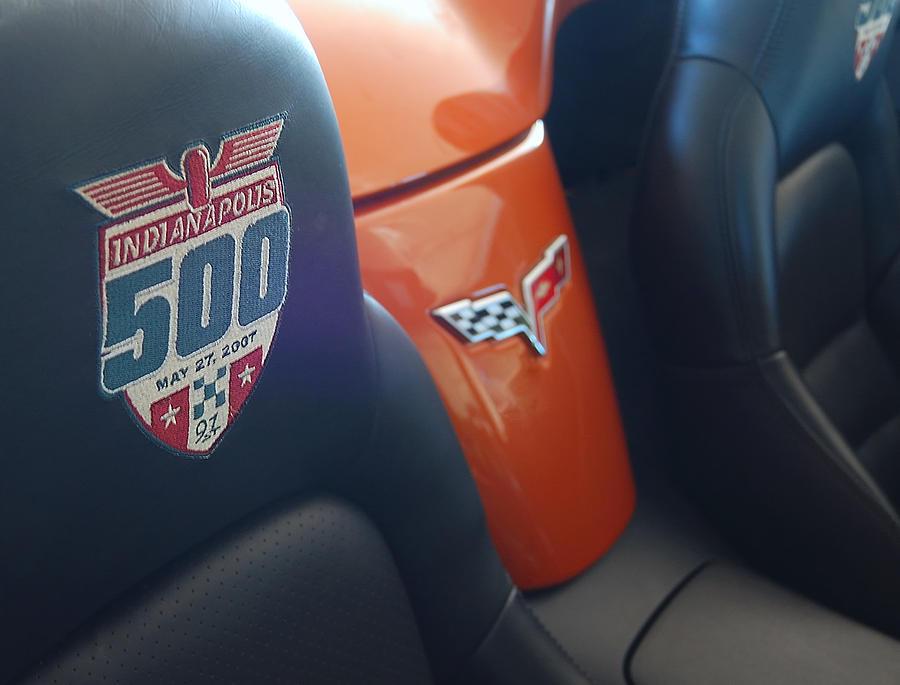 Corvettes Photograph - Pace Ride - Indianapolis 500 Corvette by Steven Milner