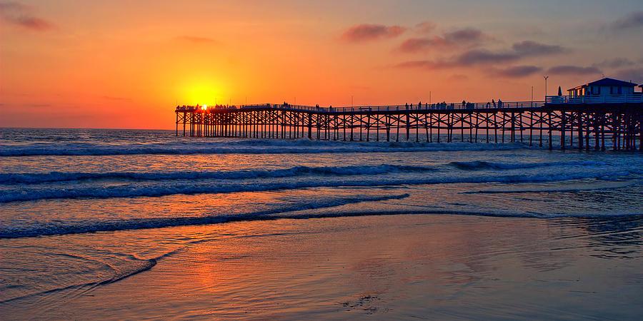 Pacific Beach Pier - Ex Lrg - Widescreen Photograph