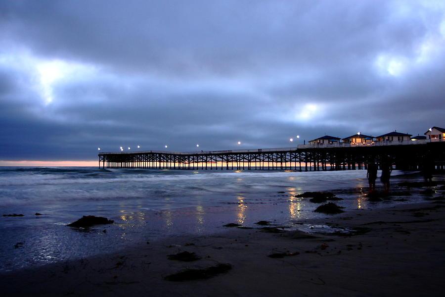 Beach Photograph - Pacific Beach Pier by Carrie Warlaumont