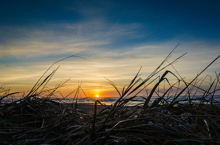 Beach Photograph - Pacific Coast Sunset by Puget  Exposure