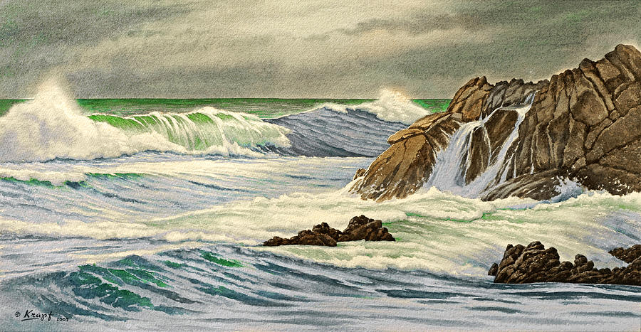 Seascape Painting - Pacific Grove Seascape by Paul Krapf
