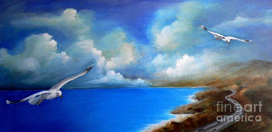 Acrylics Painting - Pacific Highway 1 by Artist ForYou