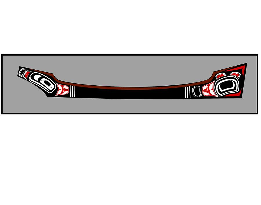Haida Point Art Drawing - Pacific Northwest Native Canoe by Fred Croydon