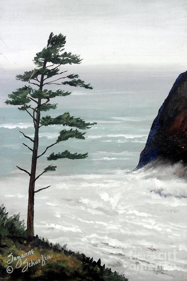 Ocean Scene Painting - Pacific Northwest Soft Ocean Breezes by Suzanne Schaefer