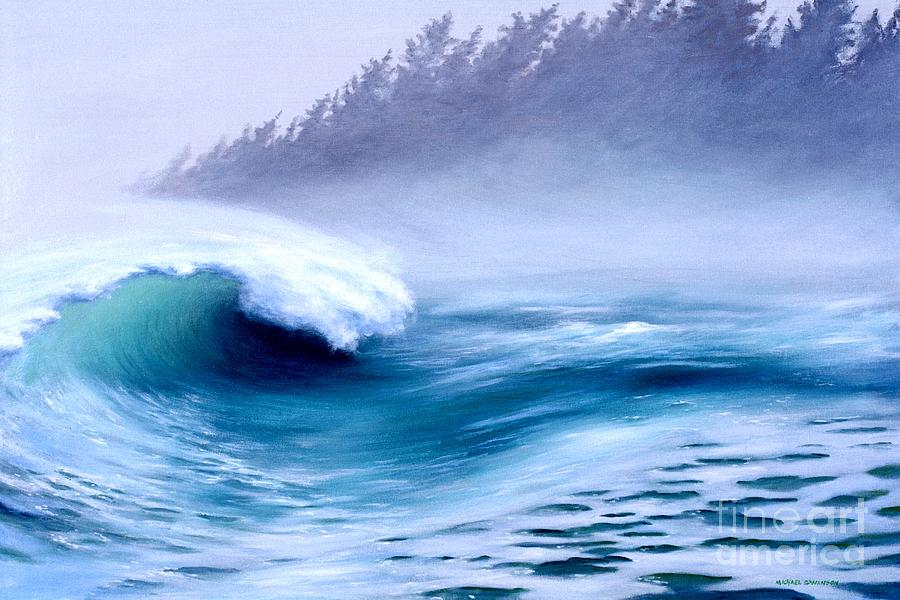 Ocean Waves Painting - Pacific Power  by Michael Swanson