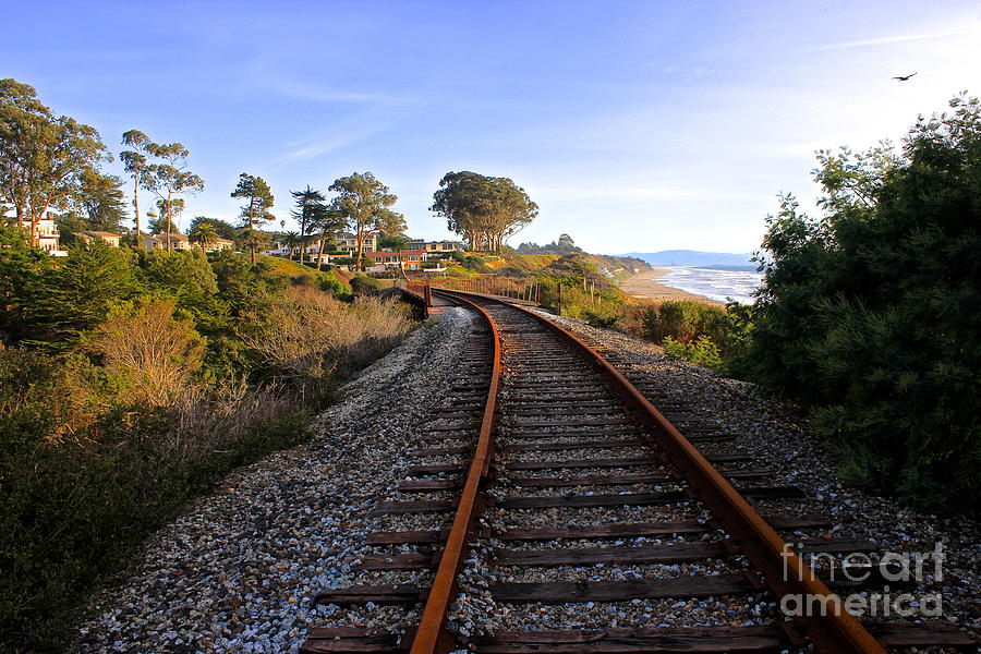 Pacific Photograph - Pacific Rail by Shannan Peters