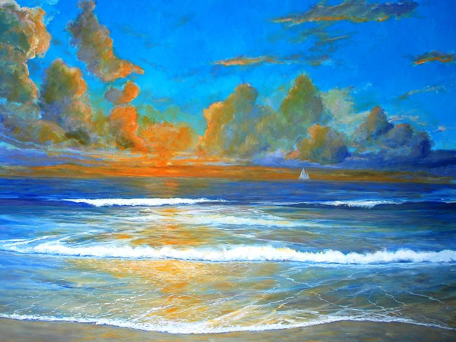 Pacific Painting - Pacific Reflections by Keith Wilkie