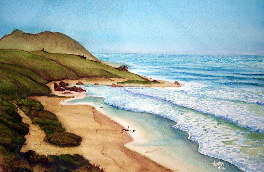 Beach Painting - Pacific by Rick Huotari