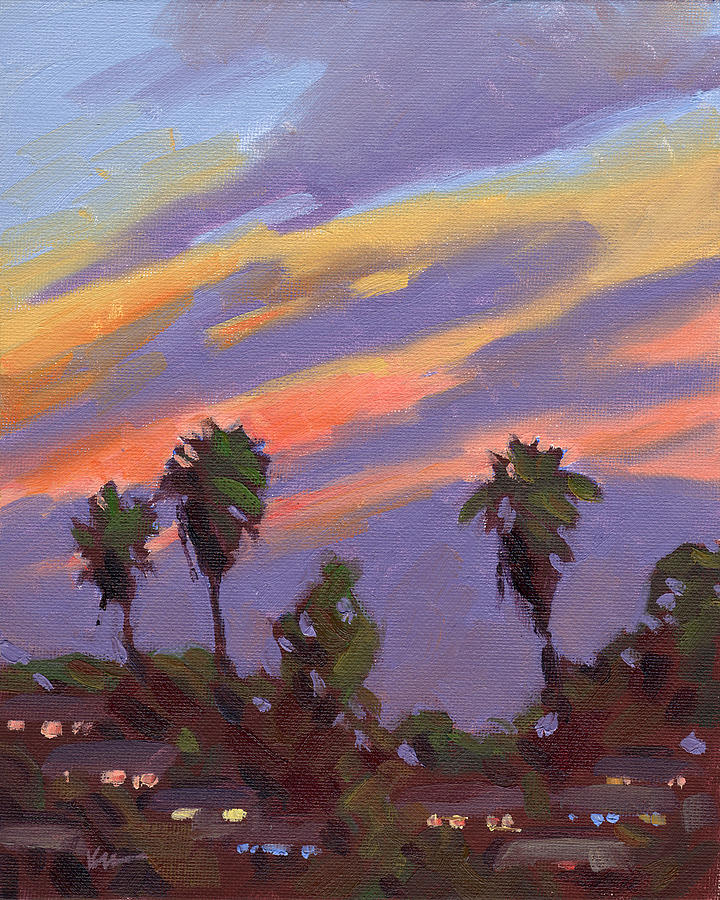 Sunset Painting - Pacific Sunset 1 by Konnie Kim