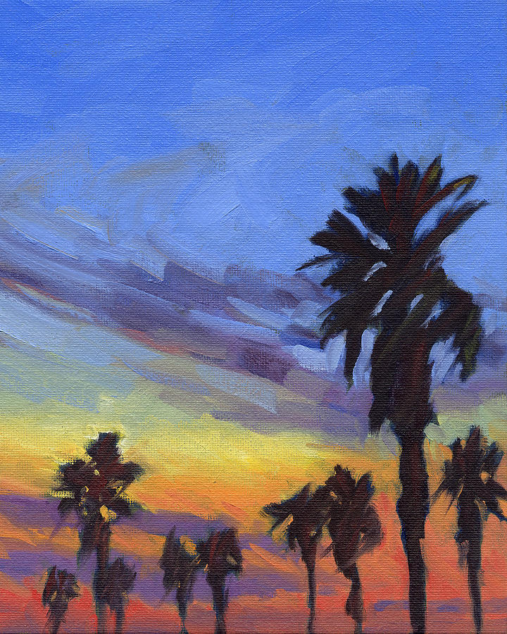 Sunset Painting - Pacific Sunset 2 by Konnie Kim