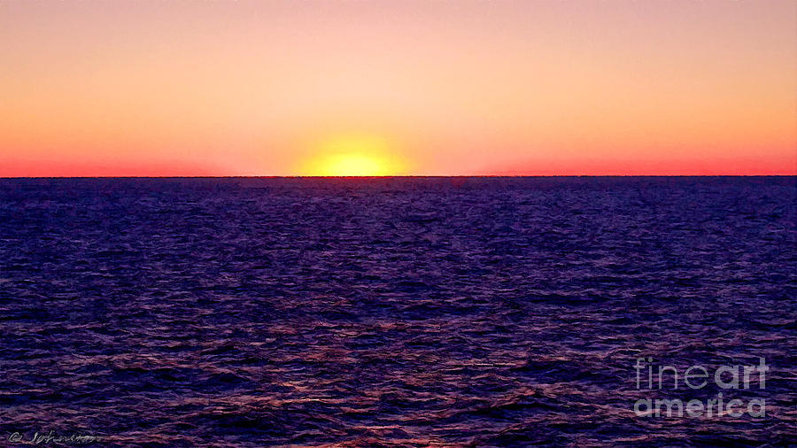 Pacific Painting - Pacific Sunset Off Laguna Beach by Bob and Nadine Johnston
