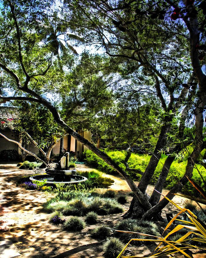 Fountain Photograph - Pacifica Courtyard by Danuta Bennett