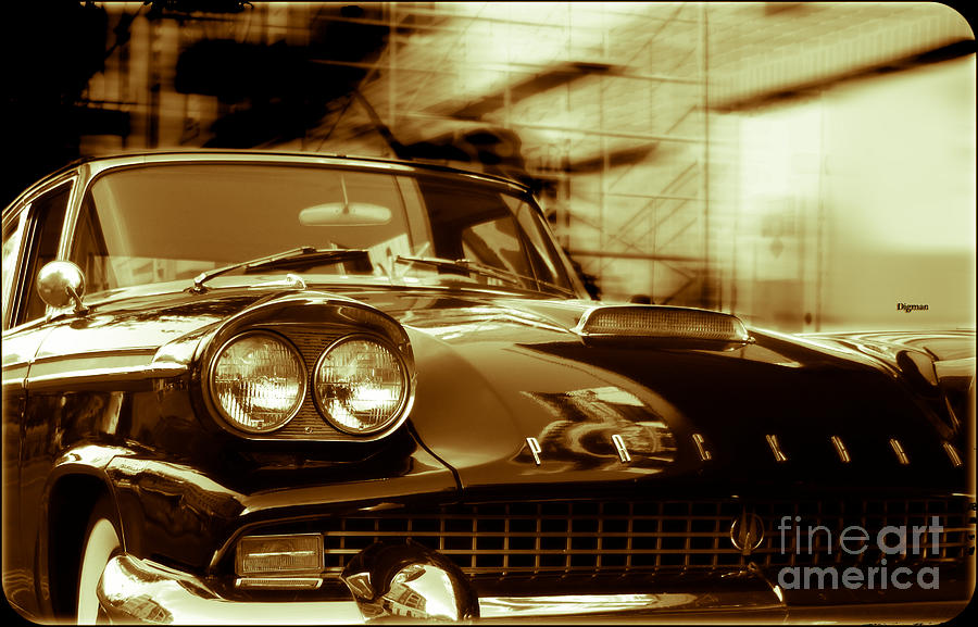 Car Photograph - Packard On Sixth Street  by Steven Digman