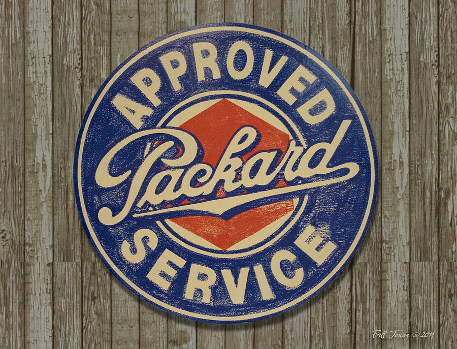 Sign Painting - Packard Sign by Bill Jonas