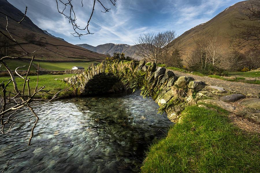 Packhorse Bridge - Wasdale - Lake District Photograph by Golfer2015