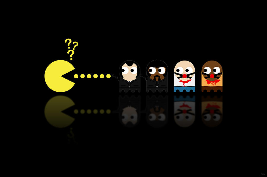 Pacman Digital Art - Pacman Pulp Fiction by NicoWriter