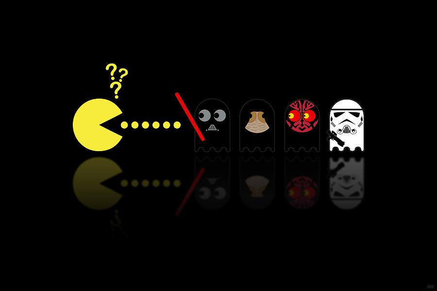 Pacman Digital Art - Pacman Star Wars - 2 by NicoWriter