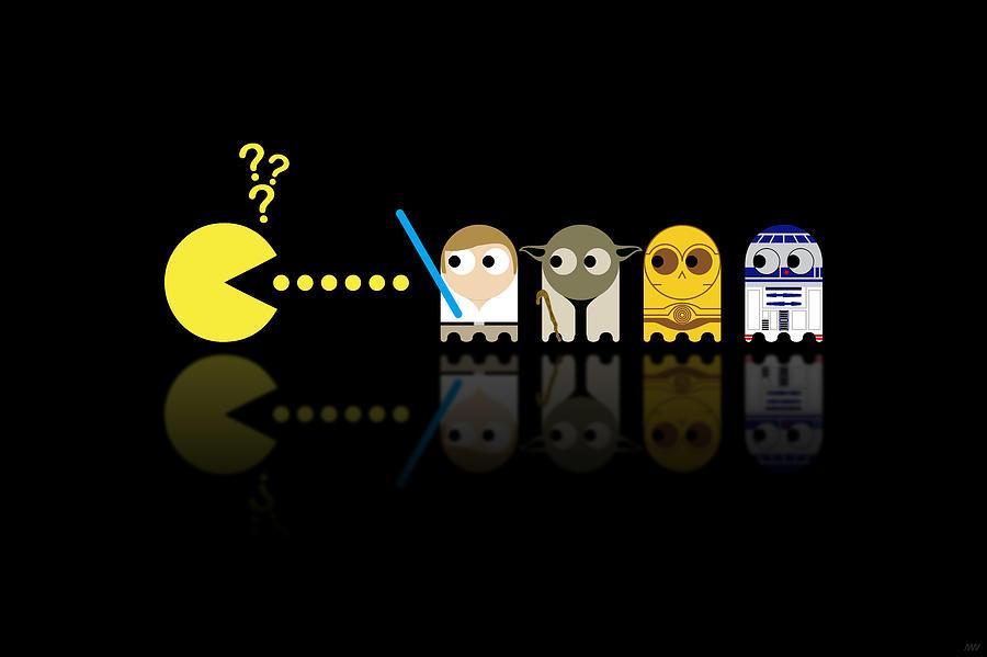 Pacman Digital Art - Pacman Star Wars - 3 by NicoWriter