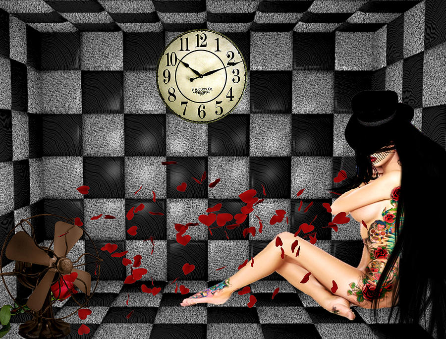 Checkers Digital Art - Padded Room Visions by Kristie  Bonnewell